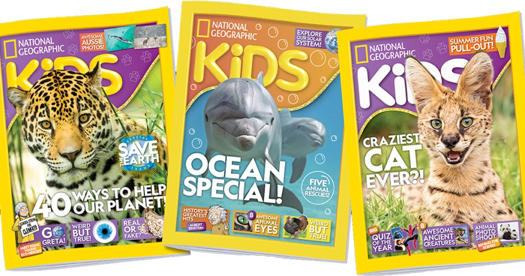 three covers of national geographic kids magazine