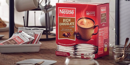 Nestle Hot Chocolate Packets 50-Count Just $5.62 Shipped on Amazon