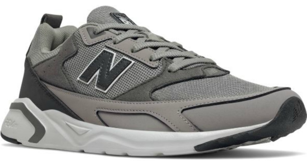 men's gray and white running shoes
