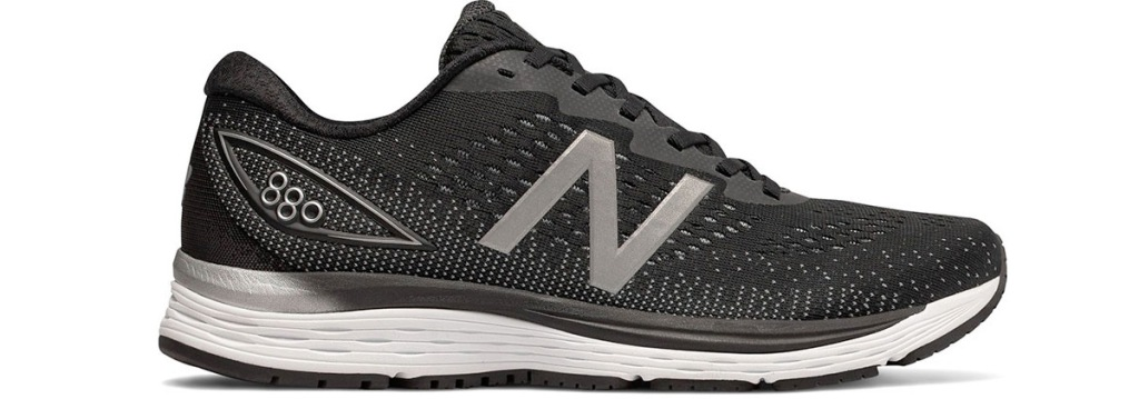 one men's black new balance running shoe