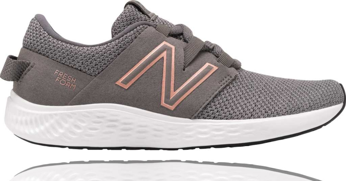 gray and pink new balance shoes