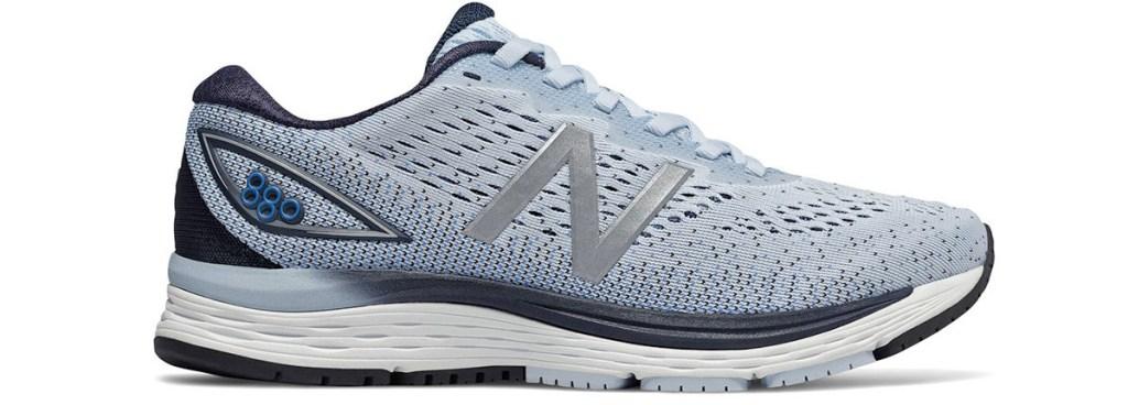 one light blue women's new balance running shoe
