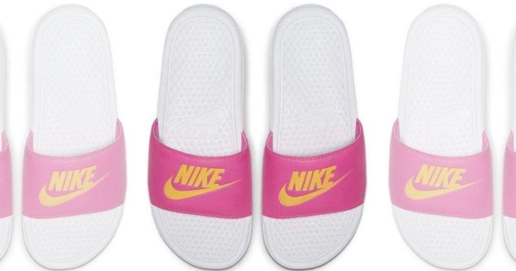 women's top view of sporty slide sandals