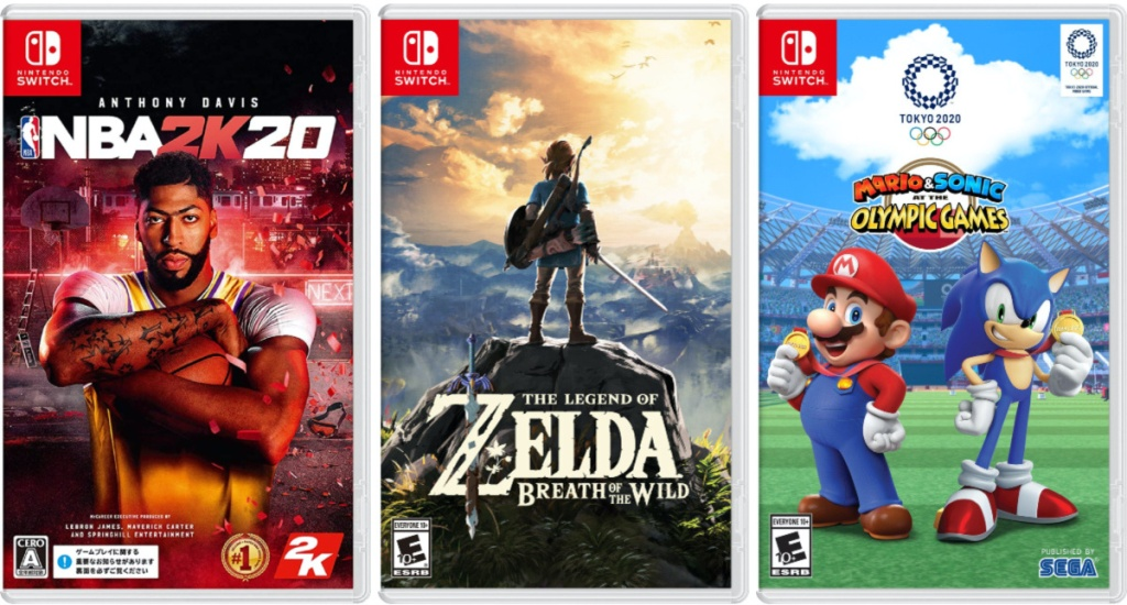 three video game covers