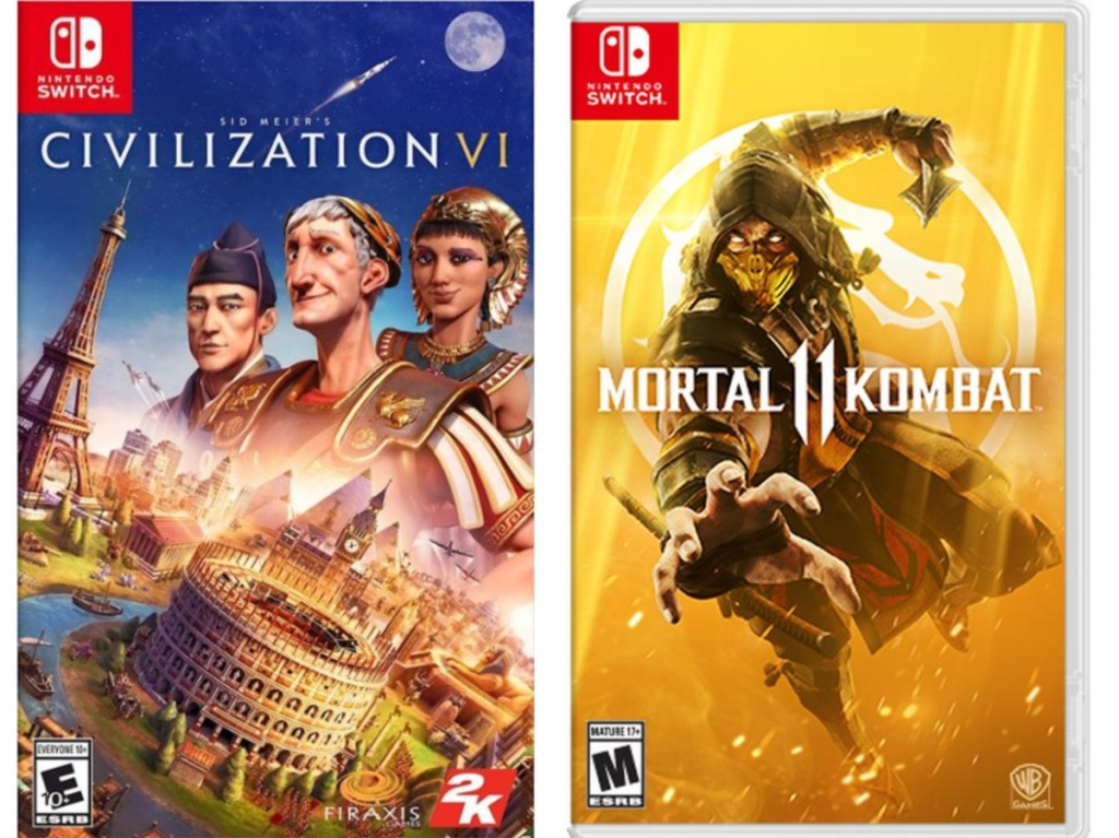 two video game covers