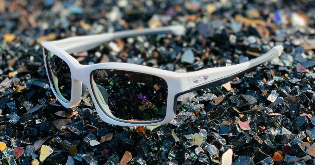 pair of sunglasses on the ground