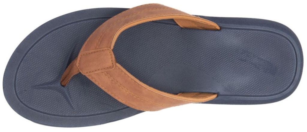 men's blue and light brown strapped Ocean & Coast® Braided Thong Flip Flops