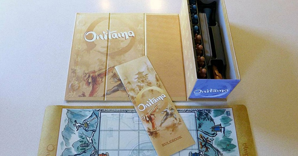 onitama board game laid out on table
