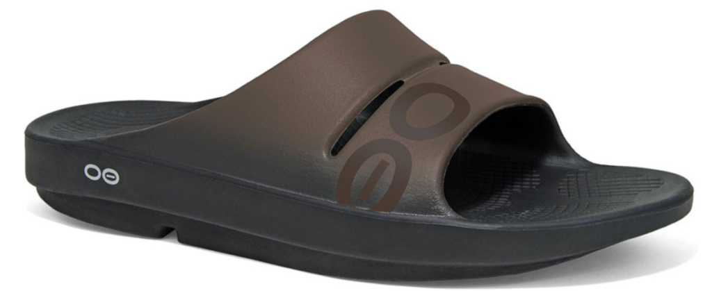 brown recovery slide sandal
