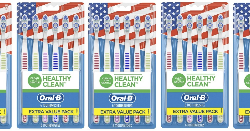 Packages of Oral-B Toothbrush Extra Value Packs