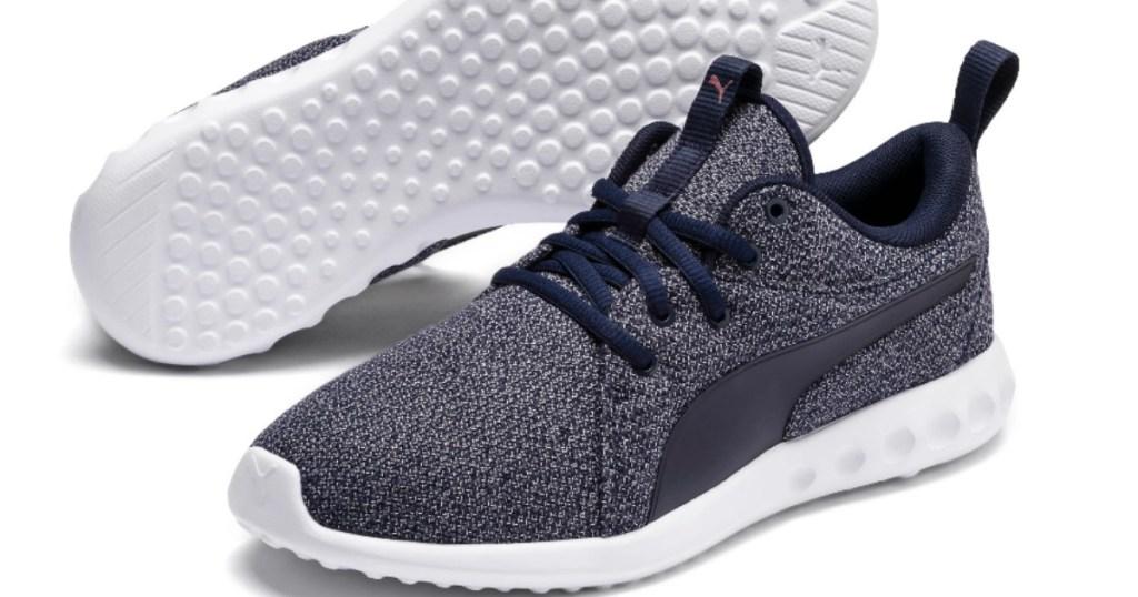black white and gray women's running shoes