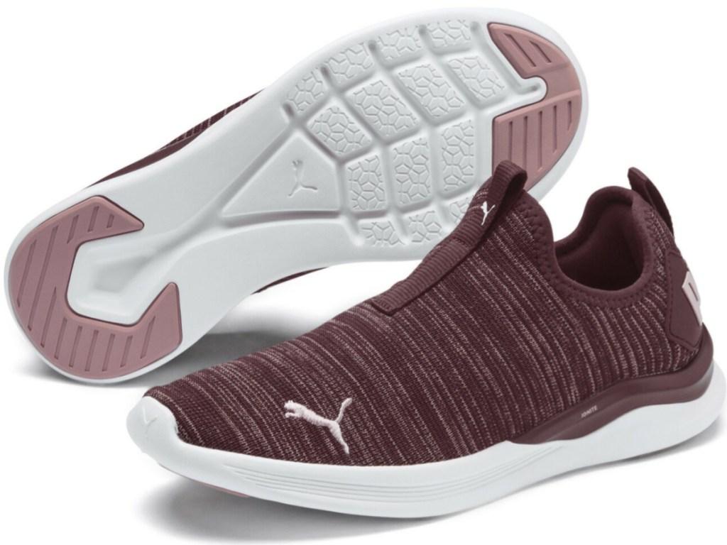 maroon color PUMA IGNITE Flash Summer Slip Women's Training Shoes