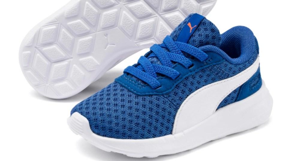 PUMA blue toddler shoes