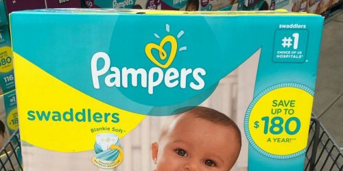 Two HUGE Boxes of Pampers Swaddlers Just $59 Shipped After Walmart Gift Card