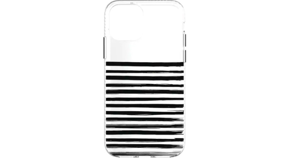 phone case with black stripes