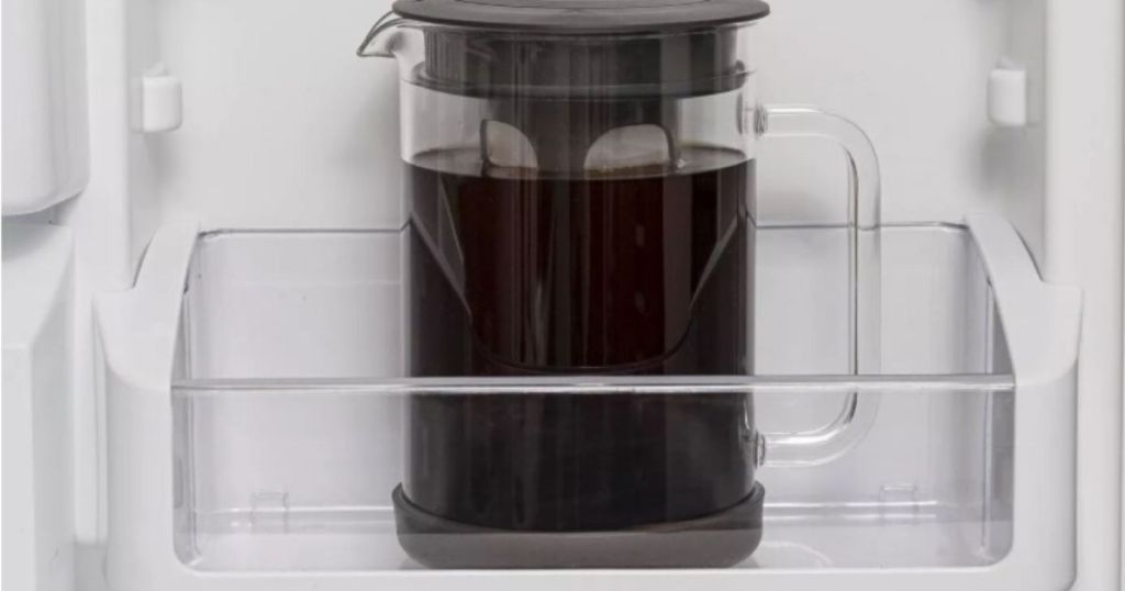cold brew coffee maker in refrigerator door