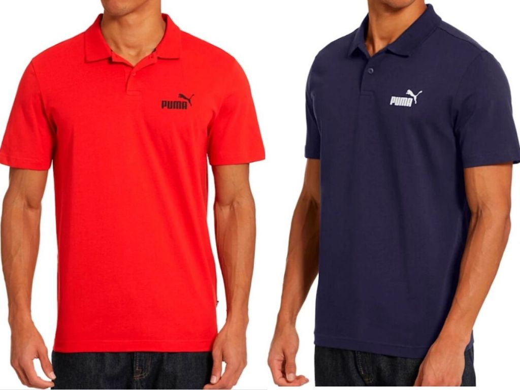 two mens puma shirts