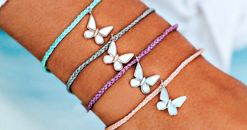 Pura Vida Save the Butterflies bracelets on hand