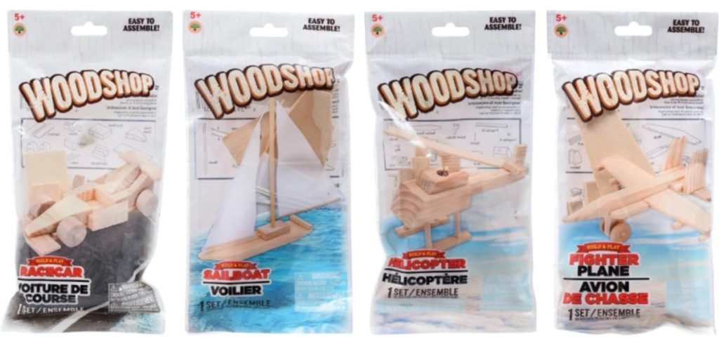 small wood craft kits in package