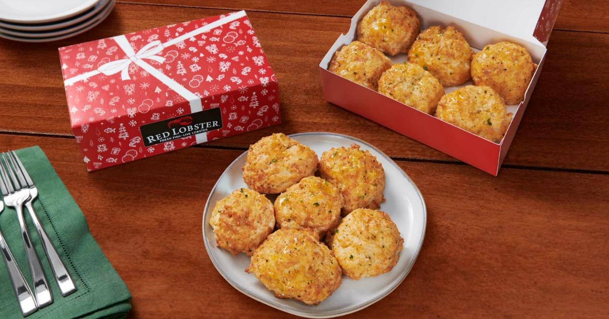 merah-lobster-liburan-biskuit-kotak hadiah