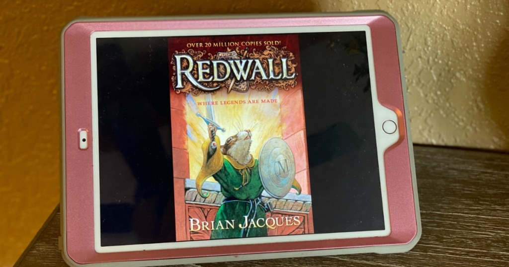 Redwall Kindle Book showing on ipad