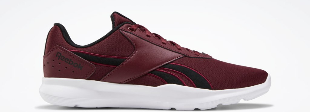 red, white and black Reebok sneaker
