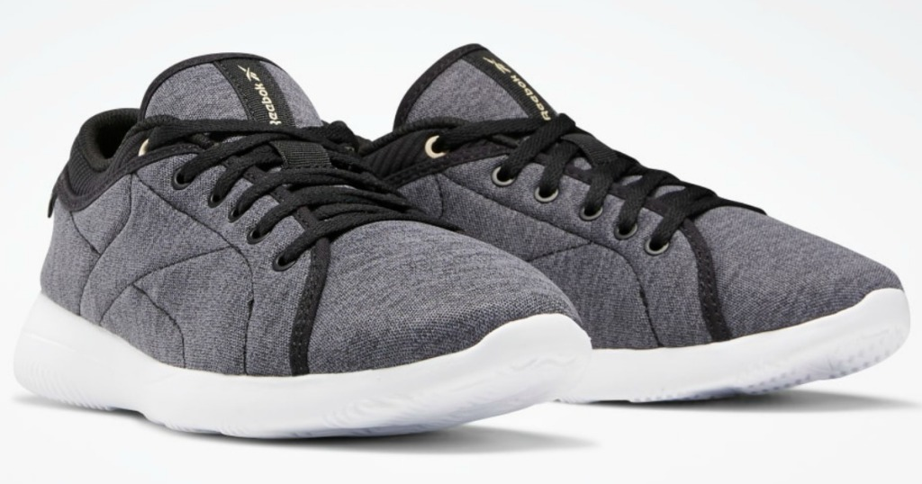 white, gray and black running shoes
