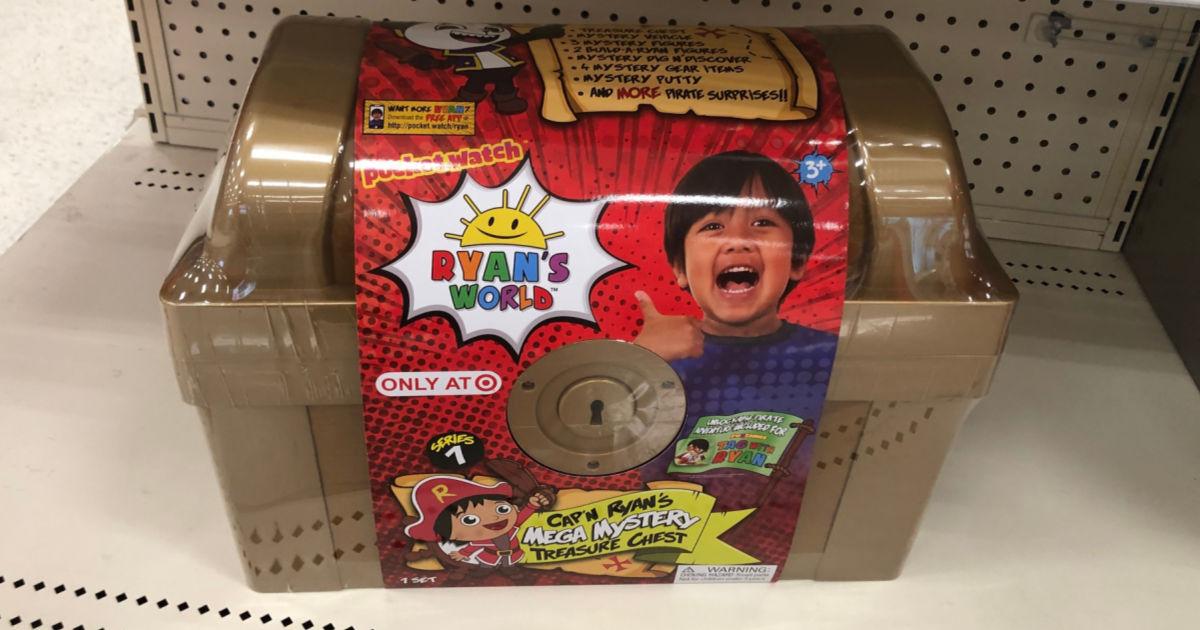 one Ryan's World Mega Mystery Treasure Chest on shelf at target