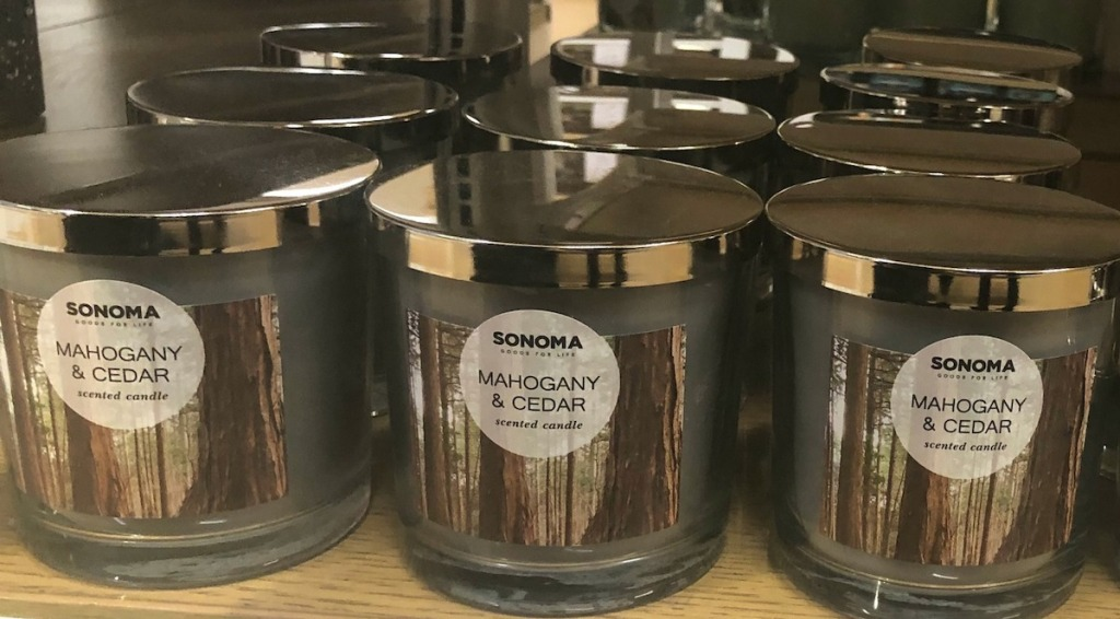 candles on a shelf at Kohl's