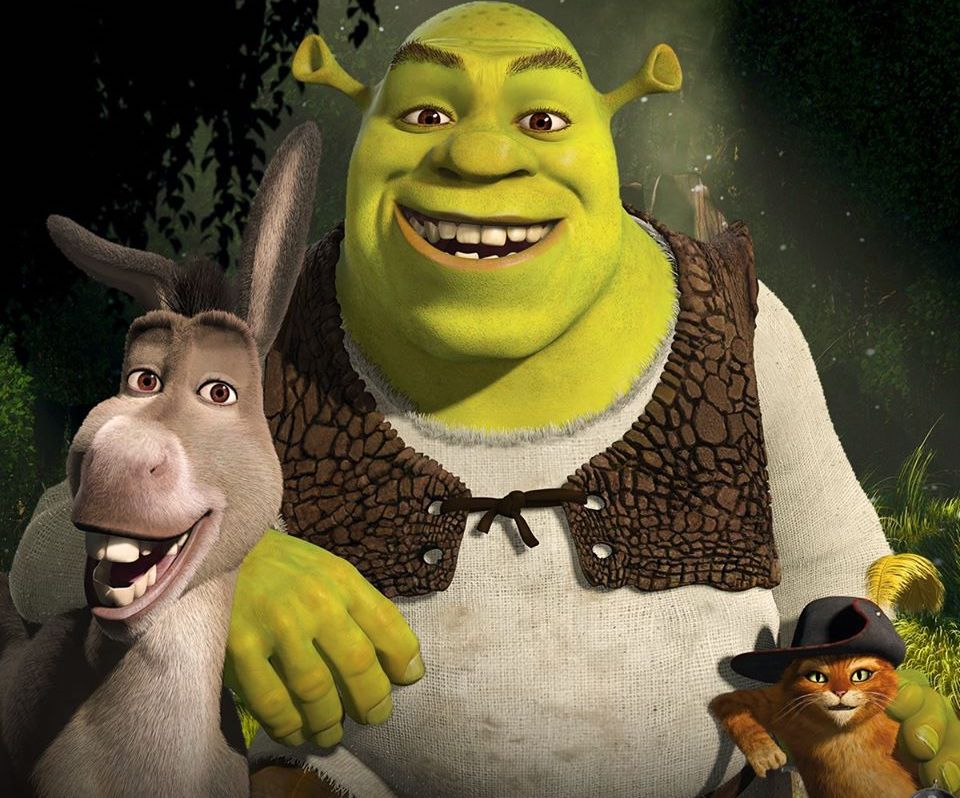shrek, donkey and puss in boots characters