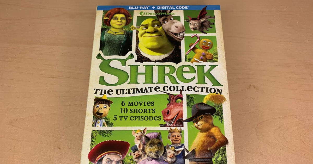 Shrek: The Ultimate Collection movie on light wooden table