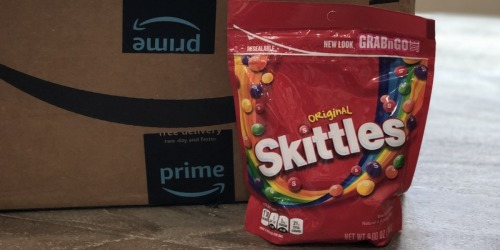Skittles Candy Resealable Bag Only $1.86 Shipped on Amazon   Stocking Stuffer Idea