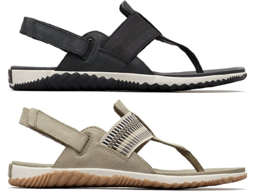 black and tan women's sandals
