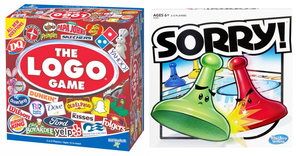 boxes for the logo game and sorry board games