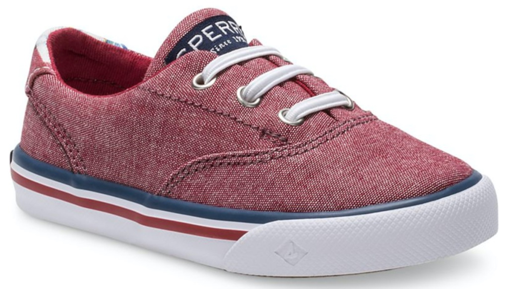 red casual kids shoe