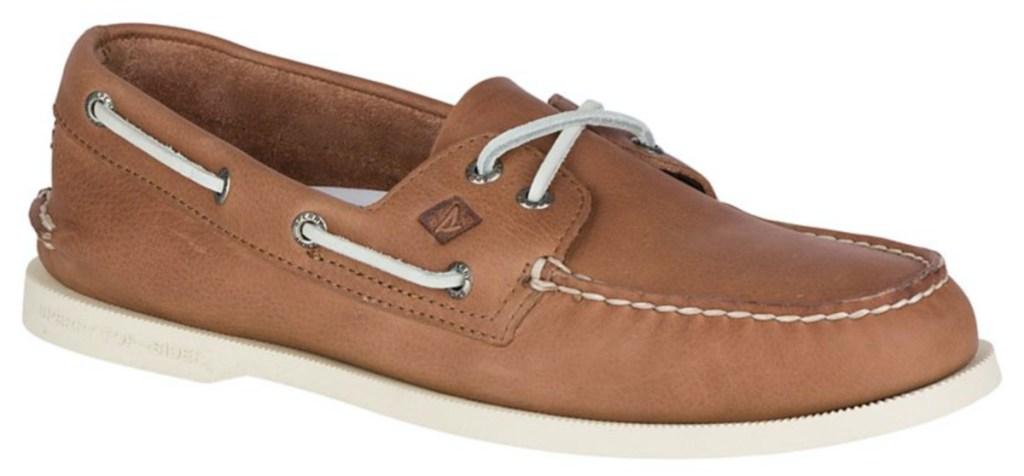 men's brown boat shoe