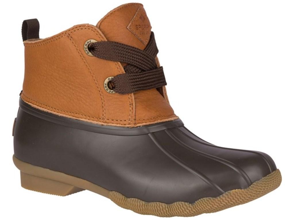 brown women's duck boot