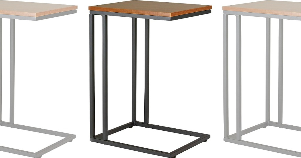 three images of a desk