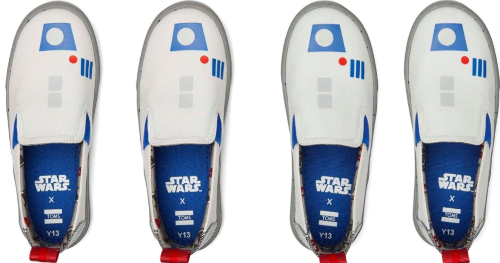 four toms star wars shoes in a row