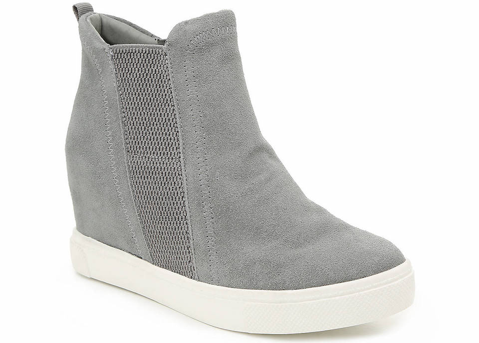 grey and white wedge sneaker