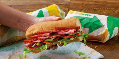 Buy 1 Subway Footlong Sandwich, Get 1 FREE w/ App or Online Order | Today Only