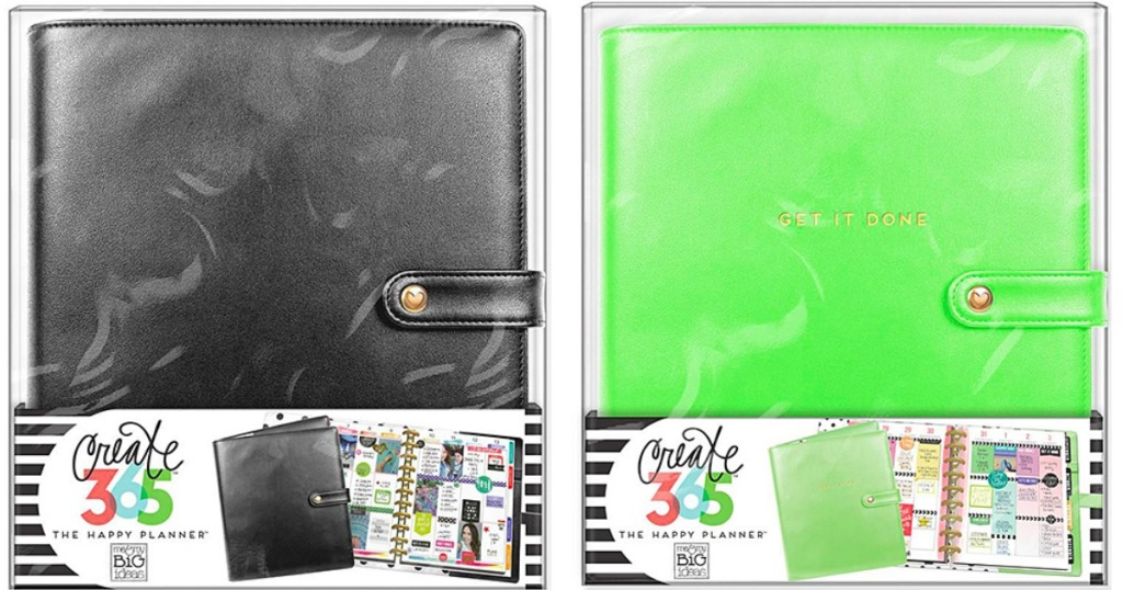 black and green The Happy Planner cases