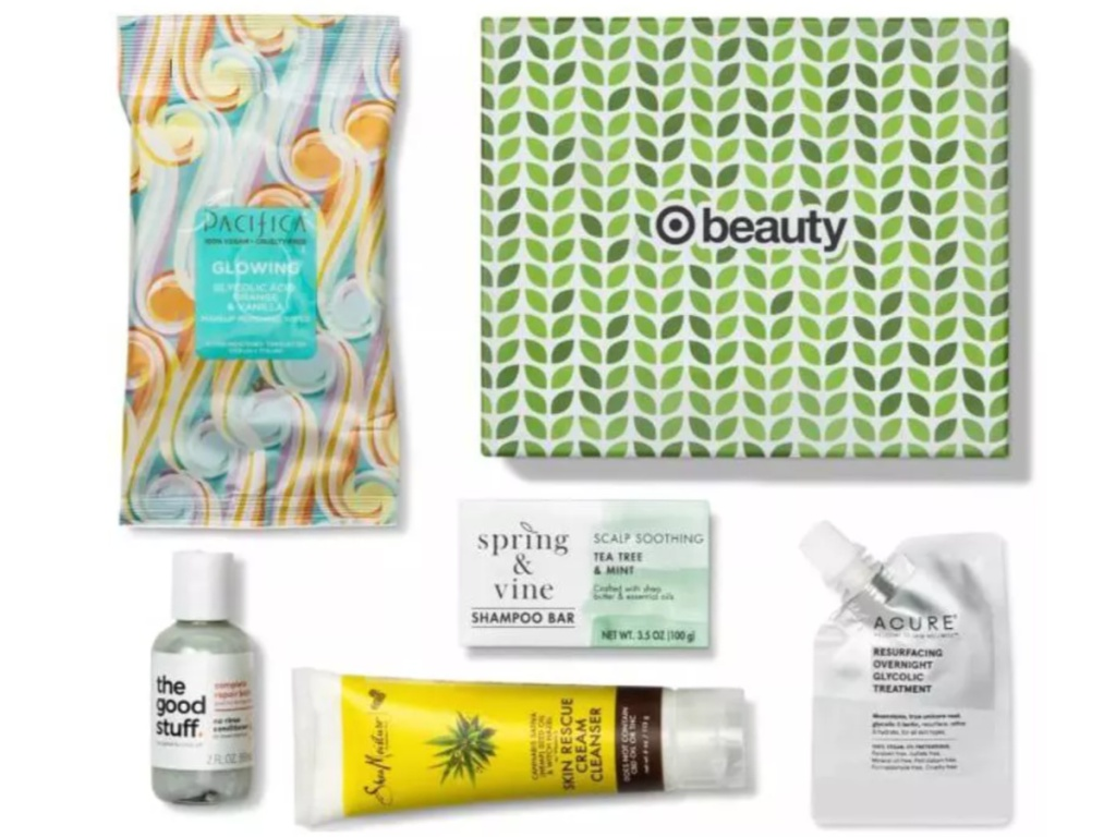 photo of Spring Into Clean beauty box with products shown