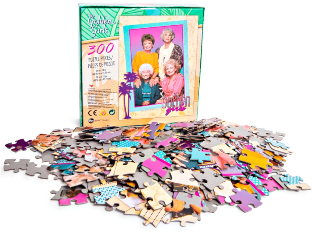 The Golden Girls 300-piece Jigsaw Puzzle with pieces out of box