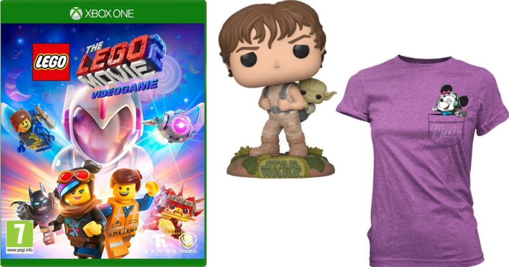 The LEGO Movie 2 Game, Star Wars Funko and purple t-shirt
