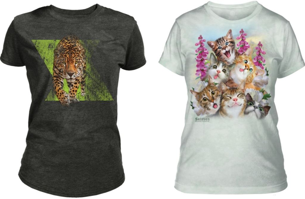 Jaguar and kitten t-shirts