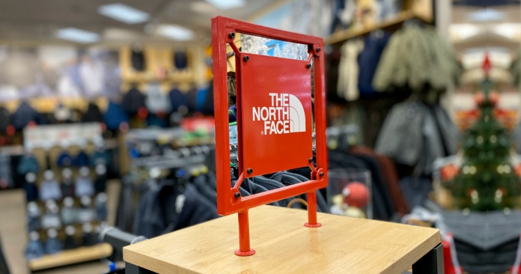 The North Face Sign inside store