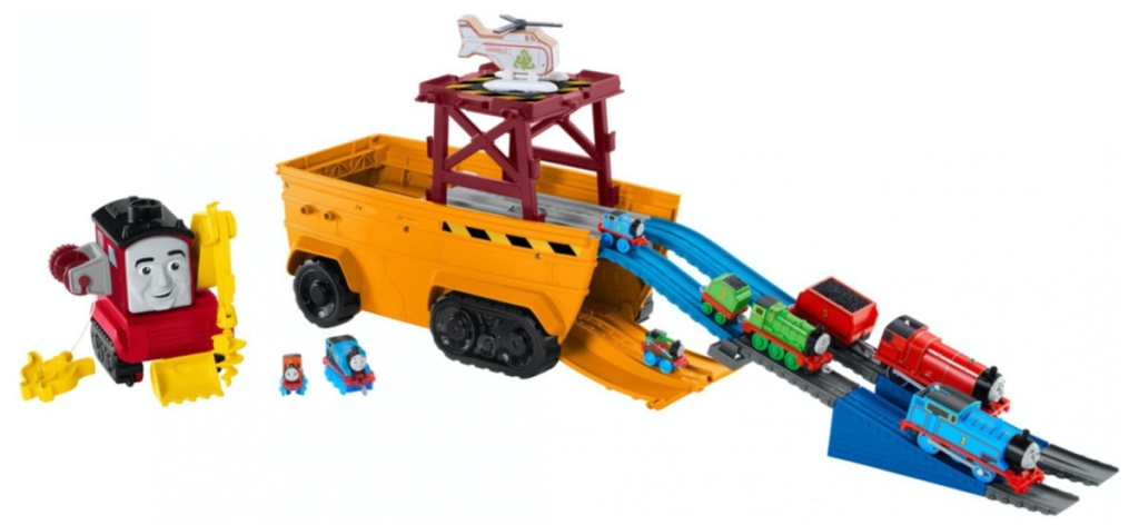 toy truck and train set