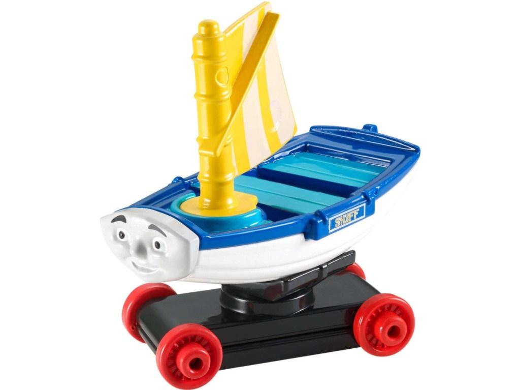 toy sailboat train
