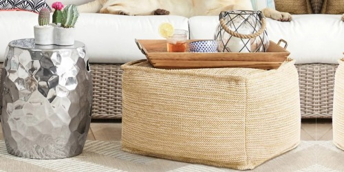Threshold Woven Outdoor Pouf Just $38 Shipped on Target.com (Regularly $60)